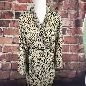 Josie Intimates & Sleepwear - Josie lingerie chemise and robe Cheeta Print M
